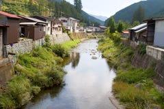 日本村庄 库存照片