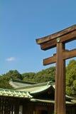 日本极端爱国义者meiji寺庙东京 免版税库存照片