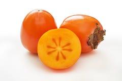 日本柿子柿属亚洲柿树 免版税库存图片