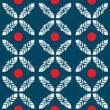 日本样式无缝的抽象红色小点瓦片背景 图库摄影