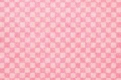 日本桃红色方格的样式纸纹理或葡萄酒背景 免版税库存图片