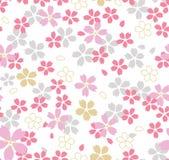 日本桃红色樱花无缝的样式 向量例证
