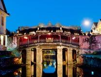 日本桥梁的Hoi,越南。 免版税库存图片