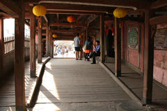 日本桥梁-会安市-越南 免版税图库摄影