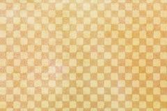 日本橙色方格的样式纸纹理或葡萄酒背景 免版税库存图片