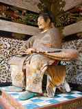 日本武士雕象 免版税库存图片