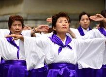 日本民间舞蹈 免版税库存图片