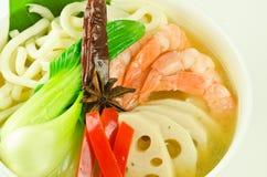 日本汤面udon 免版税库存图片