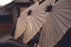 日本油纸伞 库存照片