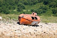日本海。 安全的小船3 库存照片