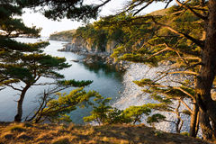 日本海。 秋天。 库存图片