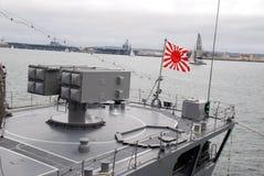 日本海军在圣地亚哥 免版税库存图片