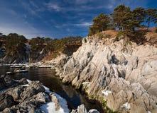 日本海在冬天5 免版税库存图片