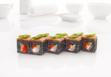 日本海鲜寿司卷 免版税图库摄影