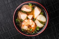 日本海鲜汤 免版税库存图片