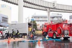 日本消防员 库存图片