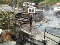 日本温泉 库存图片