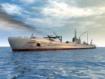 日本潜水艇 免版税库存图片