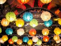 日本灯彩色玻璃  皇族释放例证