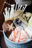 日本烹调 在背景的汤 图库摄影