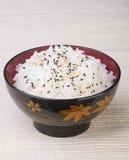 日本烹调 在背景的米 库存照片