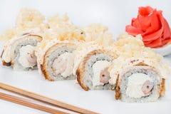 日本烹调 开胃寿司卷用米,乳脂干酪 库存图片