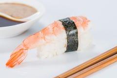 日本烹调 开胃虾和米 库存图片