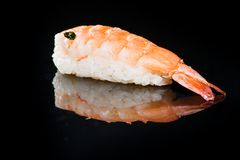 日本烹调 开胃虾和米 图库摄影