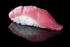 日本烹调 开胃金枪鱼和米 免版税库存图片
