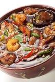 日本烹调-海鲜汤 库存照片