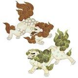 日本狮子 向量例证