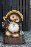 日本狸雕象在京都 库存图片