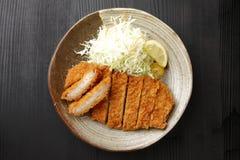 日本猪肉炸肉排Tonkatsu 库存照片
