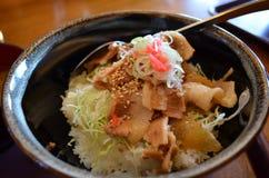 日本猪肉用米 免版税图库摄影