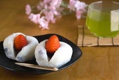 日本甜点 免版税库存图片