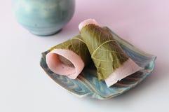 日本甜点 免版税库存照片