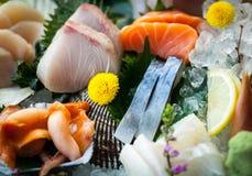 日本生鱼片 库存照片