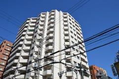 日本电线在地面上 免版税库存照片