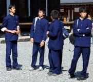 日本男孩校服 免版税图库摄影