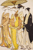 日本的传统服装 库存图片