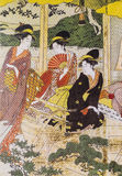 日本的传统服装 免版税图库摄影