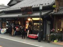 日本的传统街道 免版税库存图片