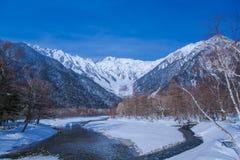 日本的冬天场面 免版税图库摄影