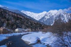 日本的冬天场面 库存图片