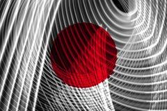日本的国旗 向量例证