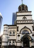 日本的宗教建筑学 俄国教会在东京 免版税库存图片