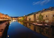 日本的小樽运河 库存照片