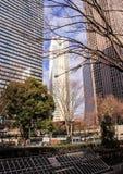 日本的建筑学 摩天大楼东京 免版税库存照片