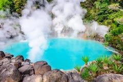 日本的海地狱温泉 免版税图库摄影
