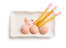 日本的甜口味 库存照片